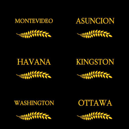 kingston: Laurel Wreaths America Capitals 8 Illustration