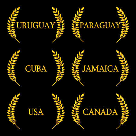 kingston: Laurel Wreaths America Countries 6