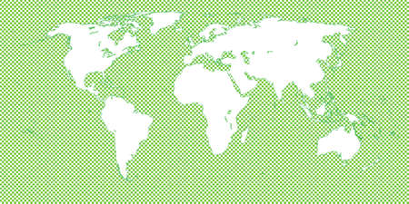 mundi: World Map Checkered Green 2 Medium Squares