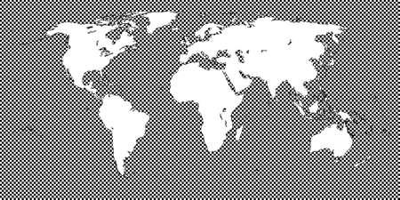 mundi: World Map Checkered Black 2 Medium Squares