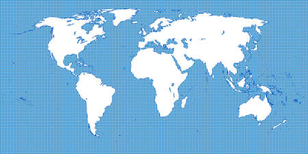 oceania: World Map Dotted Blue 2 Medium Dots Illustration