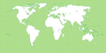 mundi: World Map Dotted Green 2 Medium Dots