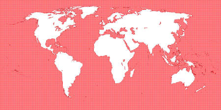 oceania: World Map Dotted Red 2 Medium Dots Illustration
