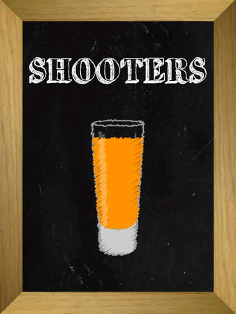 shooters: Shooters List on a Chalkboard 2