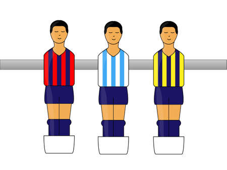 striker: Table Football figures with Argentinian League Uniforms 2