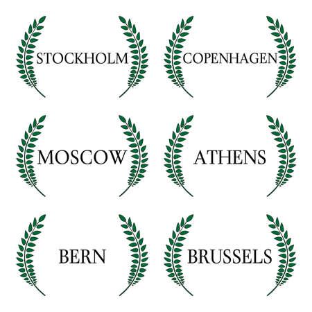 月桂樹の花輪のヨーロッパの首都 5