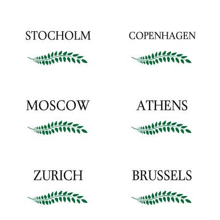 月桂樹の花輪のヨーロッパの首都 7
