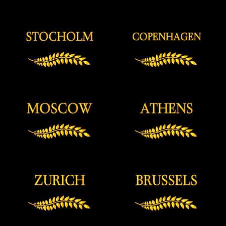 capitals: Laurel Wreaths European Capitals 8