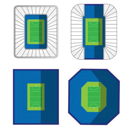 outdoor seating: Set of Field Hockey Stadiums 1