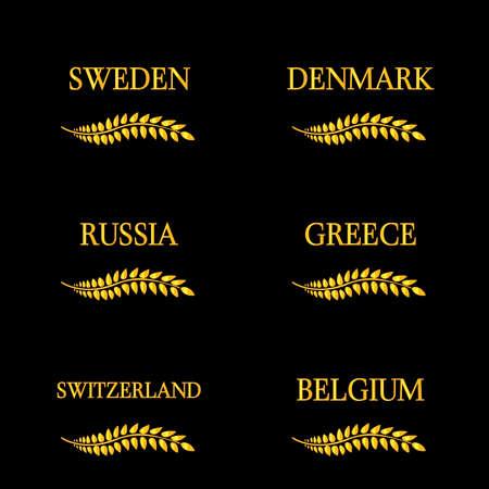 月桂樹のリースの欧州諸国 8