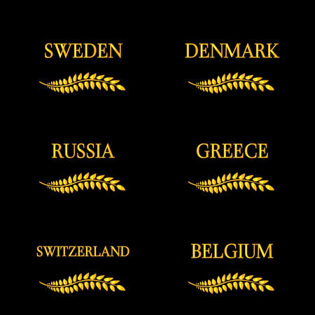 european countries: Laurel Wreath European Countries 8