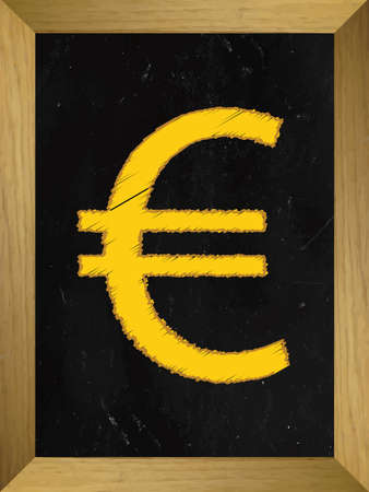 salts: Euro Currency Sign on a Chalkboard Illustration