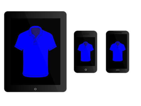 mobile devices: Mobile Devices With Black Polo Shirt
