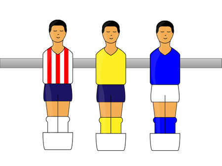 little league: Table Football Uniforms figures with Mexican League 1