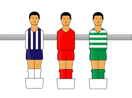 little league: Table Football Uniforms figures with Mexican League 2 Illustration