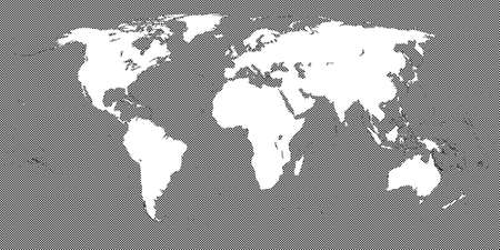 Black Checkered World Map 3 Small Squares