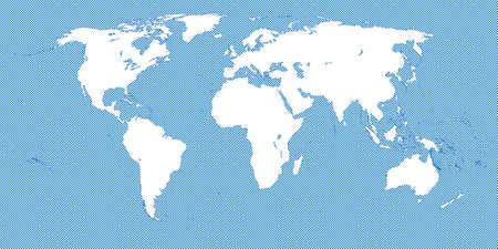 市松模様の世界地図青 3 小広場  イラスト・ベクター素材