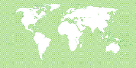 mundi: World Map Checkered Green 3 Small Squares Illustration