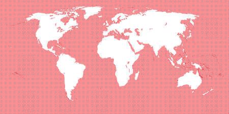 mundi: Red Checkered World Map 3 Small Squares