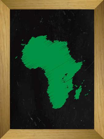mundi: Africa Map Draw on a Chalkboard Illustration
