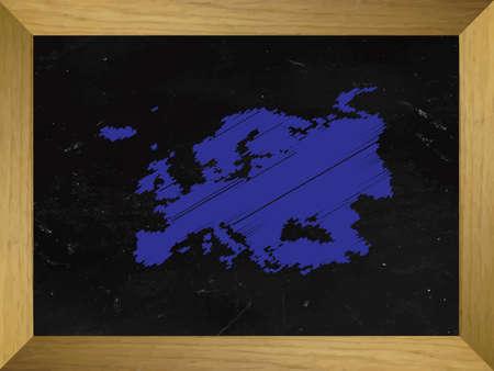 mundi: Europe Map Draw on a Chalkboard
