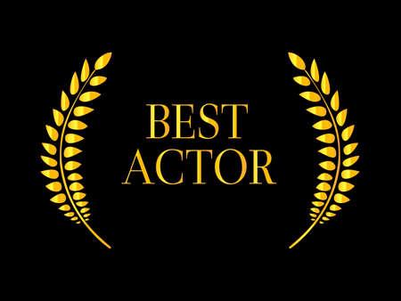 famous actress: Best Actor Laurel 2 Illustration