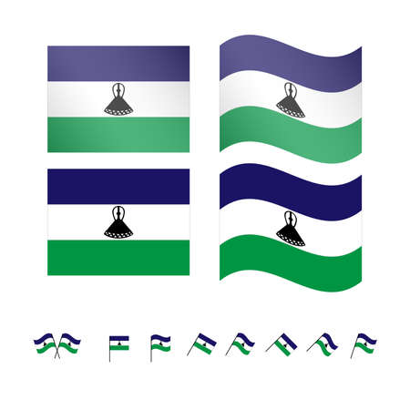 compatriot: Lesotho Flags EPS 10
