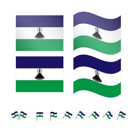 compatriot: Lesotho Flags EPS 10