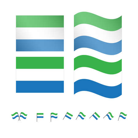 creole: Sierra Leone Flags EPS 10 Illustration