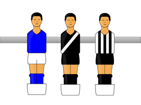 defender: Table Football Figures with Brazilian League Uniforms 3 Illustration