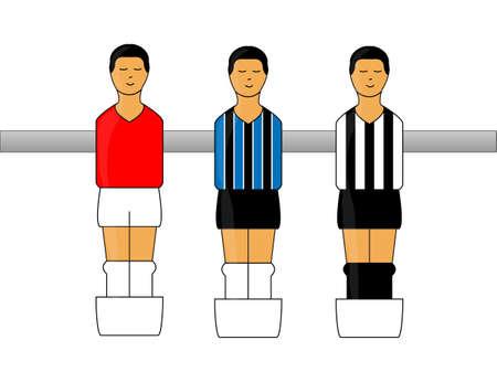 striker: Table Football Figures with Brazilian League Uniforms 4 Illustration