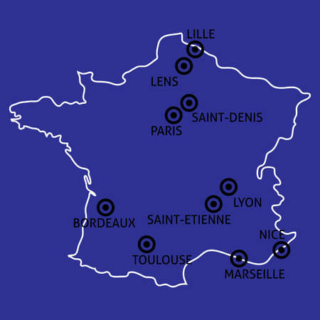 toulouse: France Cities Map