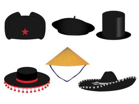 世界の伝統的な帽子
