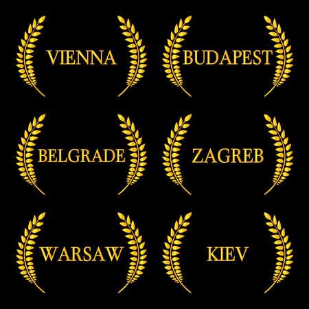 european: Laurel Wreaths European Capitals 10