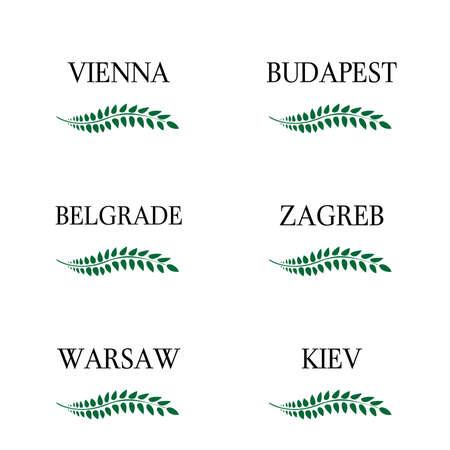 capitals: Laurel Wreaths European Capitals 11 Illustration