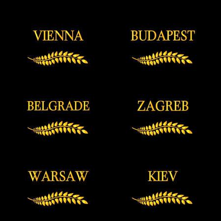 capitals: Laurel Wreaths European Capitals 12 Illustration