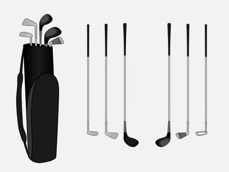 bogey: Golf Clubs With Bag