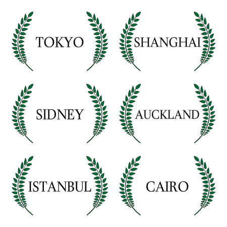 far east: Laurel Wreaths Cities of the World 1