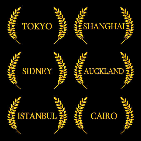 far east: Laurel Wreaths Cities of the World 2