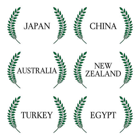 sidney: Laurel Wreath Countries of the World 1 Illustration