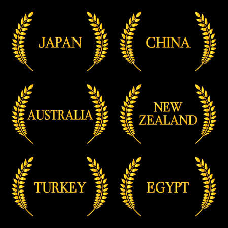 sidney: Laurel Wreath Countries of the World 2 Illustration