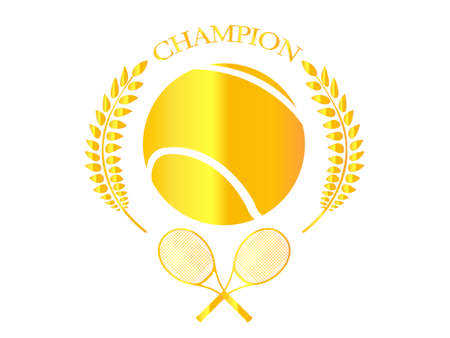 raquet: Golden Badge 1 Tennis Champion