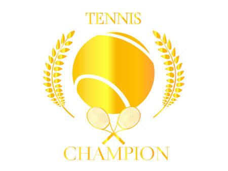 raquet: Tennis Champion Golden Badge 2