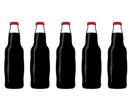 hydrate: Full Bottles of Cola Illustration