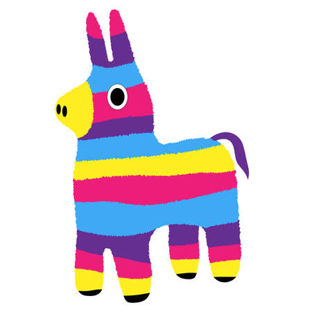 pinata: Donkey Pinata Illustration
