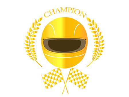 Racing Champion Badge 1 Ilustrace