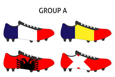 cleats: France Cup Cleats Group A Illustration