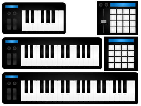 track pad: Midi Instruments Illustration