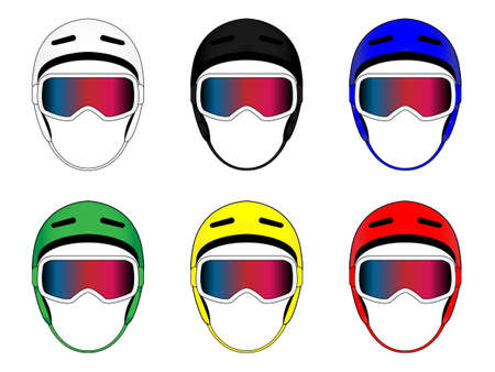 snowboard: Snowboard Helmets in Different Colours