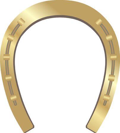 horseshoe:  gold horseshoe